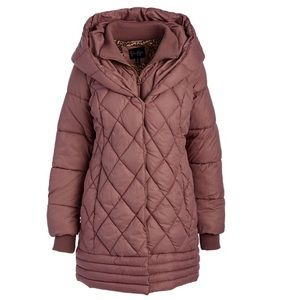Jessica Simpson Dusty Pink Quilted Puffer Coat
